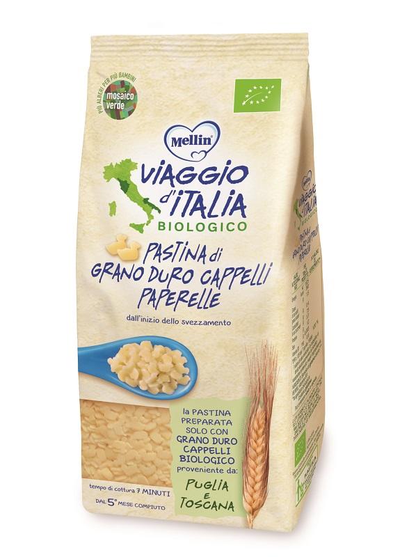 MELLIN VIAGGIO ITALIA PASTA PAPERELLE CAPPELLI 320 G - Farmacia Bartoli