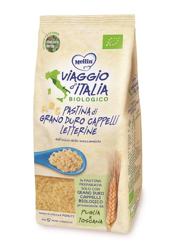 MELLIN VIAGGIO ITALIA PASTA LETTERINE CAPPELLI 320 G - Farmacia Bartoli