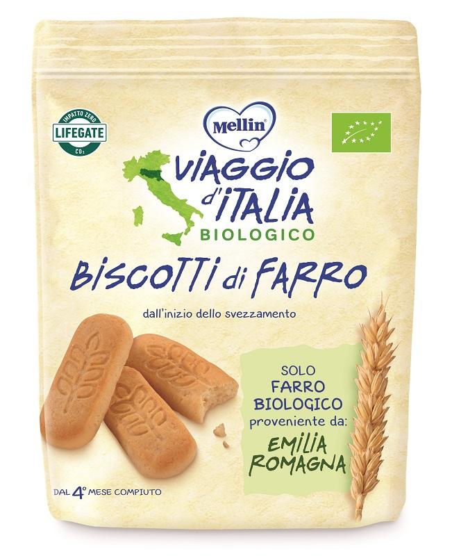 MELLIN VIAGGIO ITALIA BISCOTTO FARRO 150 G - Spacefarma.it