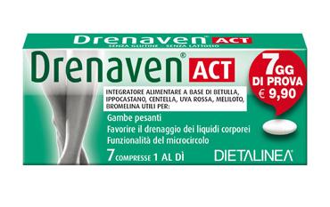 DRENAVEN ACT 7 DAYS 7 COMPRESSE DIETALINEA - Farmacia Centrale Dr. Monteleone Adriano