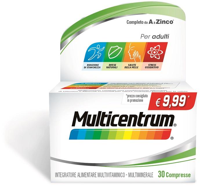 MULTICENTRUM ADULTI 30 COMPRESSE PROMO - Farmacia Massaro
