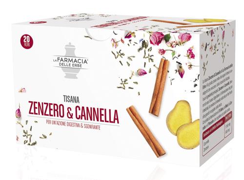 FARMACIA DELLE ERBE TISANA ZENZERO & CANNELLA 20 FILTRI - Farmabros.it
