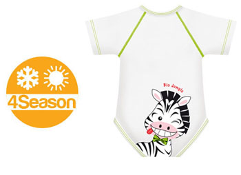 BODY 0/36M BIO COTTON 4SEASON ZEBRA - Farmabellezza.it