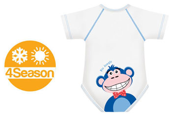 BODY 0/36M BIO COTTON 4SEASON SCIMMIA - Farmabellezza.it