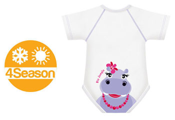 BODY 0/36M BIO COTTON 4SEASON IPPOPOTAMO - Farmabellezza.it