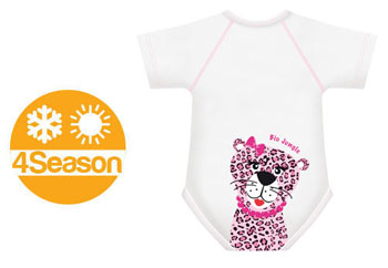 BODY 0/36M BIO COTTON 4SEASON LEOPARDO - Farmabellezza.it