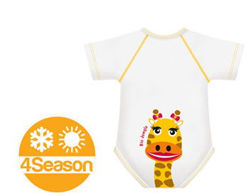 BODY 0/36M BIO COTTON 4SEASON GIRAFFA - Farmabellezza.it