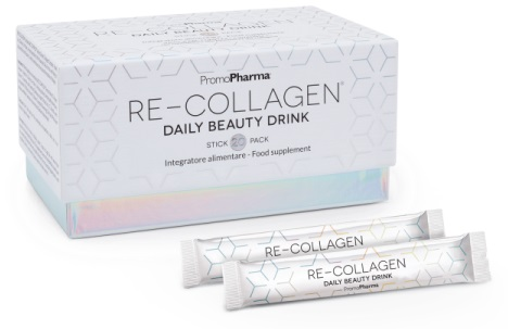RE-COLLAGEN DAILY BEAUTY DRINK 20 STICK PACK X 12 ML - Farmacia Bartoli
