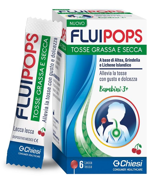 FLUIPOPS 6 LECCA LECCA GUSTO CILIEGIA PER TOSSE - Farmajoy