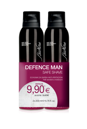 DEFENCE MAN BIPACK SCHIUMA BARBA 2 X 200 ML - Farmastar.it
