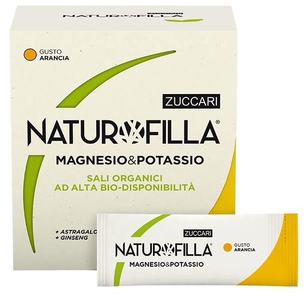 NATUROFILLA MAGNESIO & POTASSIO GUSTO ARANCIA 14 STICK PACK - Sempredisponibile.it