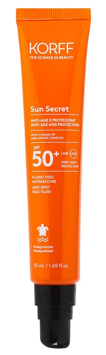 KORFF SUN SECRET FLUIDO VISO ANTIMACCHIE SPF50+ 50 ML - Farmalke.it