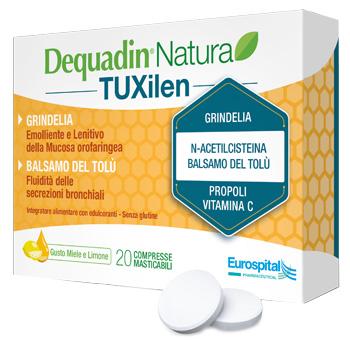 DEQUADIN NATURA TUXILEN 20 COMPRESSE - Farmacia Centrale Dr. Monteleone Adriano