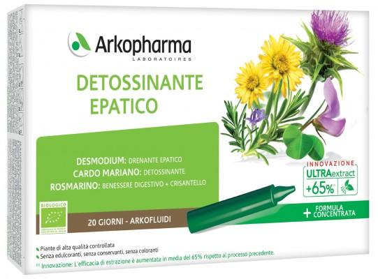 ARKOFLUIDI ULTRA SUONI DETOSSINANTE EPATICO 20 FIALE - Farmacia Centrale Dr. Monteleone Adriano