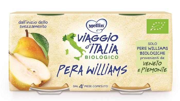 MELLIN VIAGGIO ITALIA BIO OMOGENEIZZATO PERA WILLIAMS 2 X 10 G - Spacefarma.it