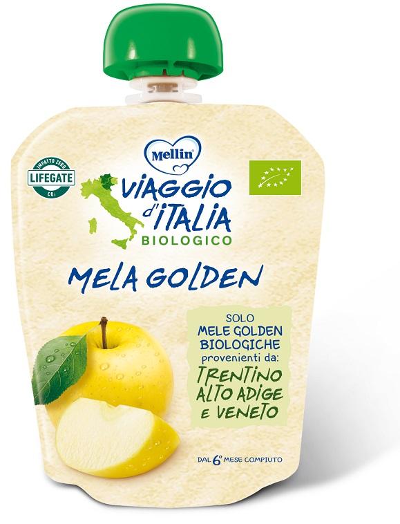 MELLIN VIAGGIO ITALIA POUCH BIO MELA GOLDEN 90 G - Spacefarma.it