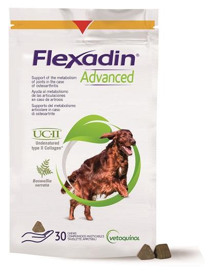 FLEXADIN ADVANCED 30 TAVOLETTE APPETIBILI MASTICABILI PER CANI - Turbofarma.it