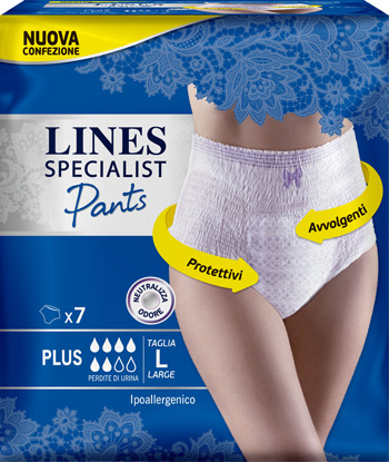 LINES SPECIALIST PANTS PLUS L FARMA 7 PEZZI - Farmaciasvoshop.it