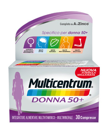 MULTICENTRUM DONNA 50+ 60 COMPRESSE - La farmacia digitale