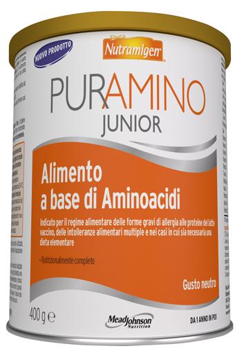 NUTRAMIGEN PURAMINO JUNIOR 400 G PER BAMBINI DALL'ANNO DI VITA IN POI - Farmaseller
