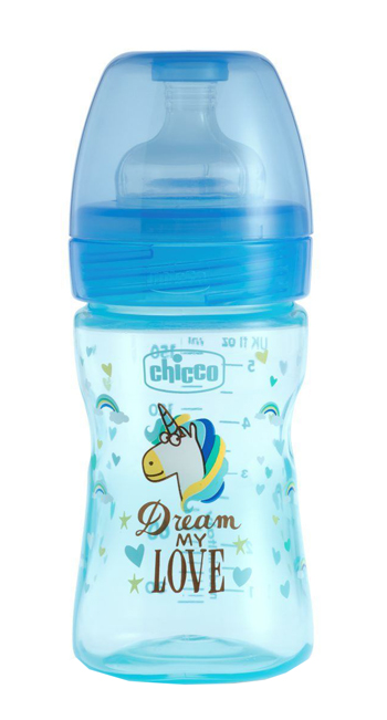 CHICCO BIBERON WB FANTASTIC LOVE SILICONE 150 ML - Turbofarma.it