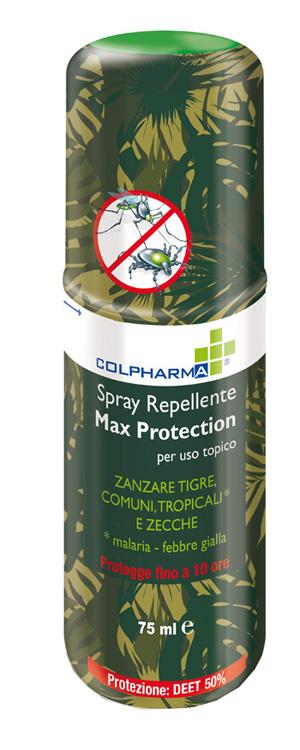 COLPHARMA SPRAY REPELLENTE MAX PROTECTION DEET 50 75 ML - Farmapage.it