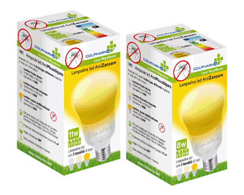 COLPHARMA LAMPADINA LED ANTIZANZARA 8 WATT - Farmabros.it