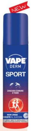 VAPE DERM SPORT SPRAY 100 ML - Farmaunclick.it