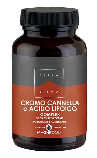 Terranova Cromo Cannella e Acido Lipoico Complex 50 Capsule - Arcafarma.it