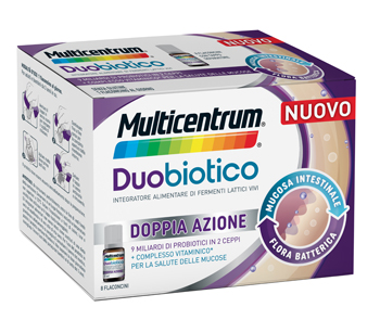 MULTICENTRUM DUOBIOTICO 8 FLACONCINI - Farmaunclick.it