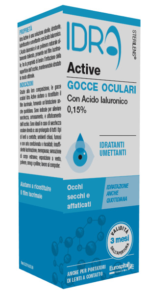 GOCCE OCULARI STERILENS IDRA ACTIVE 10 ML CON ACIDO IALURONICO 0,15% - Farmajoy
