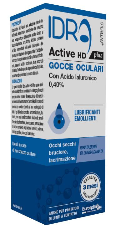 GOCCE OCULARI STERILENS IDRA ACTIVE HD PLUS 10 ML CON ACIDO IALURONICO 0,40% - Farmajoy