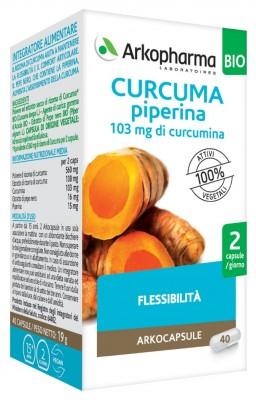 ARKO CAPSULE CURCUMA+PIP BIO 40 CAPSULE - Farmaunclick.it