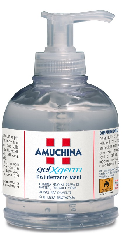AMUCHINA GEL X-GERM DISINFETTANTE MANI 250 ML - Farmapass