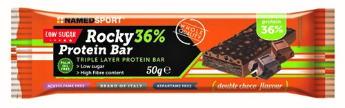 ROCKY 36% PROTEIN BAR DOUBLE CHOCO BARRETTA 50 G - FARMAPRIME