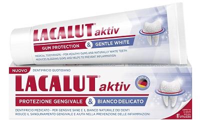 LACALUT AKTIV PROTEZIONE GENGIVALE & BIANCO DELICATO 75 ML - Farmaseller