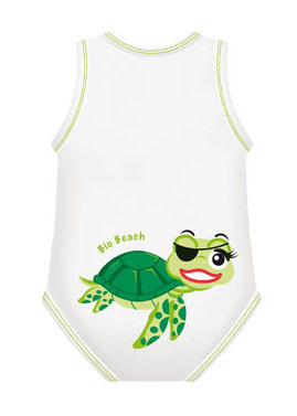 BODY 0/36M BIO COTTON SUMMER BEACH TARTARUGA - Farmawing