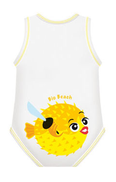 BODY 0/36M BIO COTTON SUMMER BEACH PESCE PALLA - Farmabellezza.it