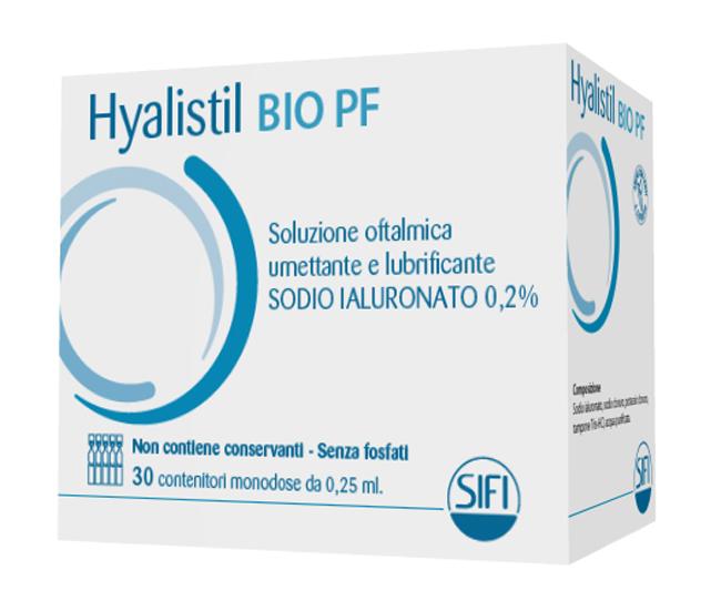 HYALISTIL BIO SOLUZIONE OFTALMICA PHOSPHATE FREE MONODOSE A BASE DI ACIDO IALURONICO 0,2% 30 FLACONCINI 0,25 ML - Farmastar.it