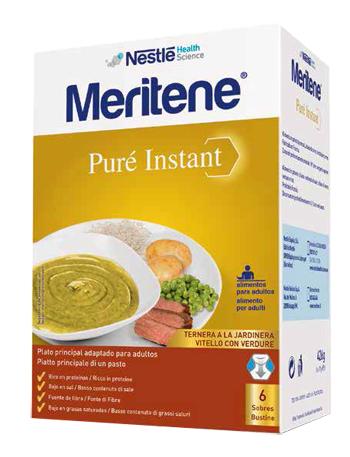 MERITENE PURE' INSTANT VITELLO CON VERDURE 6 X 71 G - FARMAEMPORIO