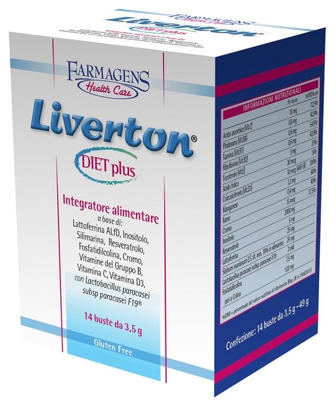 LIVERTON DIET PLUS 14 BUSTINE - Farmaseller