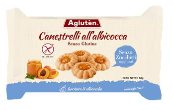 AGLUTEN CANESTRELLI ALL'ALBICOCCA SENZA ZUCCHERI AGGIUNTI 200 G - Farmaseller