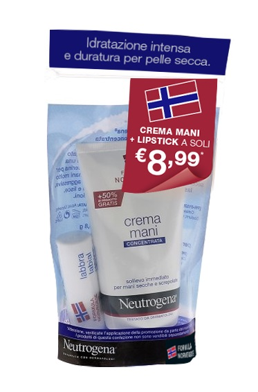 NEUTROGENA MANI PROFUMATO + LIPSTICK BUNDLE - farmaciadeglispeziali.it