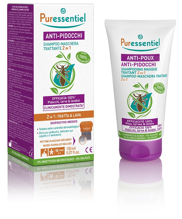 Puressentiel Shampoo Maschera Trattante Pidocchi 150ml - Sempredisponibile.it