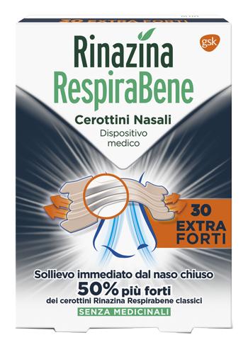 RINAZINA RESPIRABENE CEROTTINO EXTRA FORTE 30 PEZZI - Farmastop