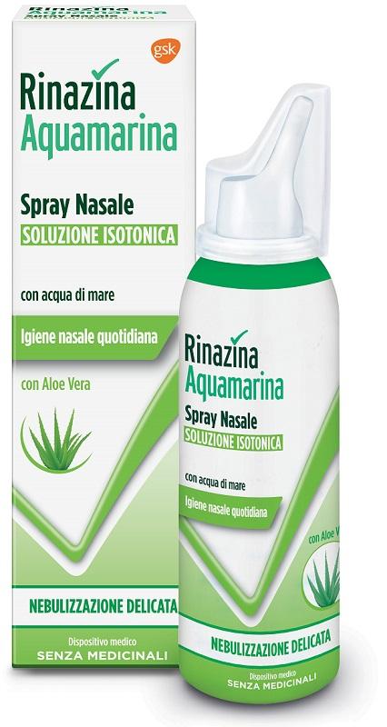 RINAZINA AQUAMARINA ISOTONICA ALOE SPRAY NEBULIZZAZIONE DELICATA 100 ML - Zfarmacia