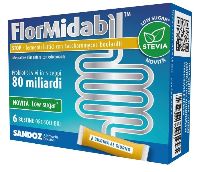 FLORMIDABIL STOP 6 BUSTINE CON STEVIA - sapofarma.it