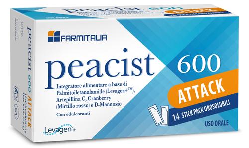 PEACIST 600 ATTACK 14 STICK PACK OROSOLUBILI - Farmaciasconti.it