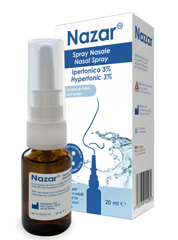 NAZAR SPRAY NASALE IPERTONICO 3% 20 ML - Farmaunclick.it