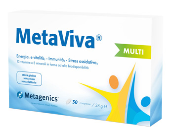 MetaViva Multi Integratore per stanchezza fisica e mentale Metagenics 30 Compresse - Farmastar.it